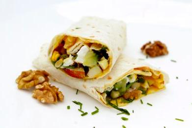 Wrap geitenkaas (vegetarisch)